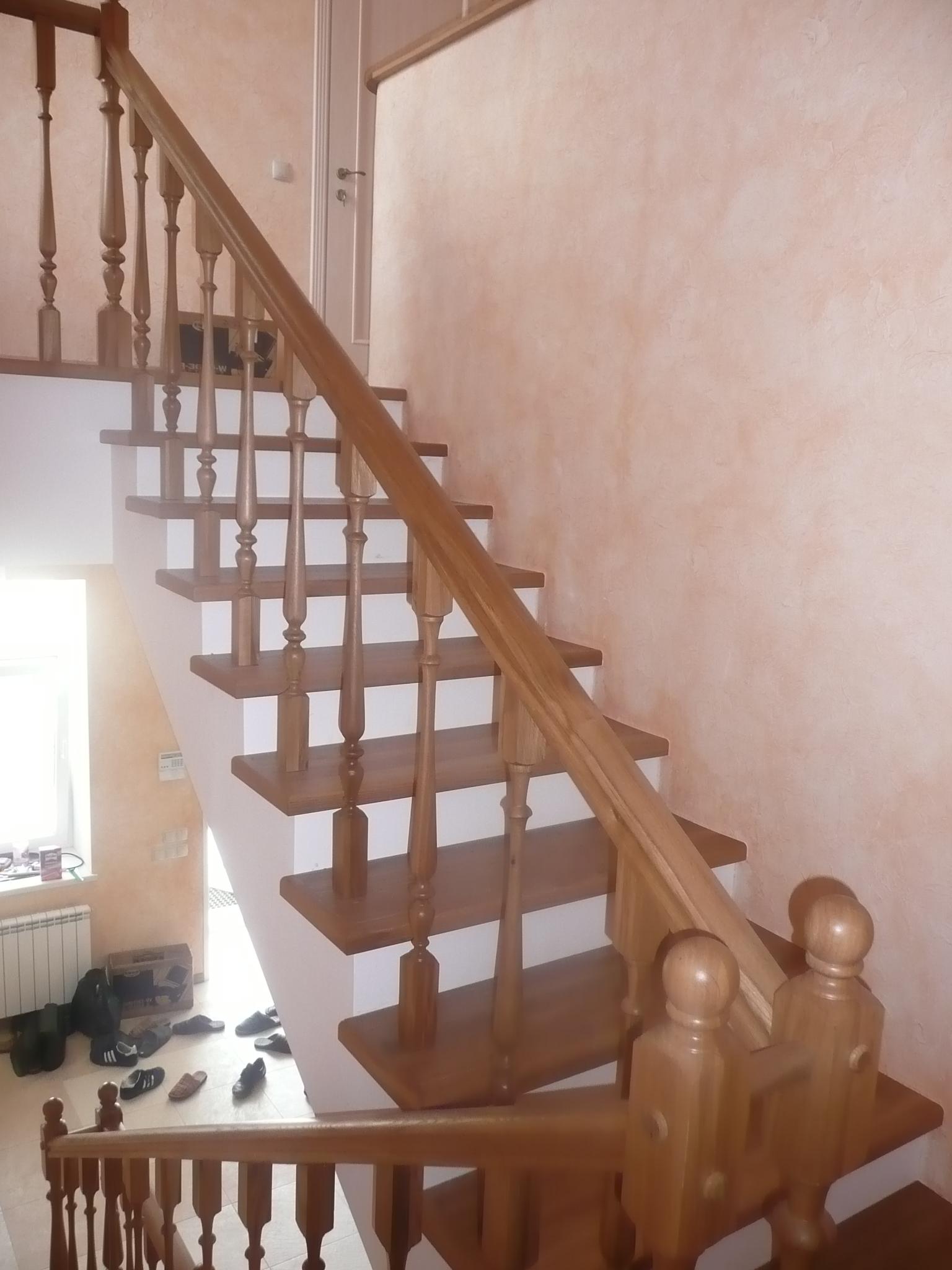 Лестницы из лиственницы своими руками