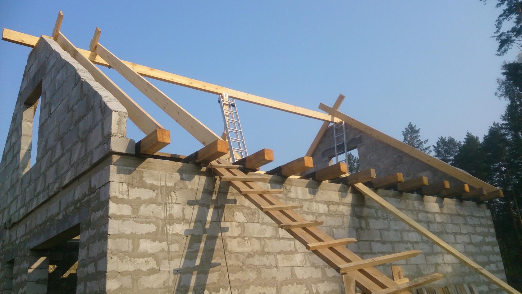 Крыша двухскатная своими руками - секреты монтажа! 96