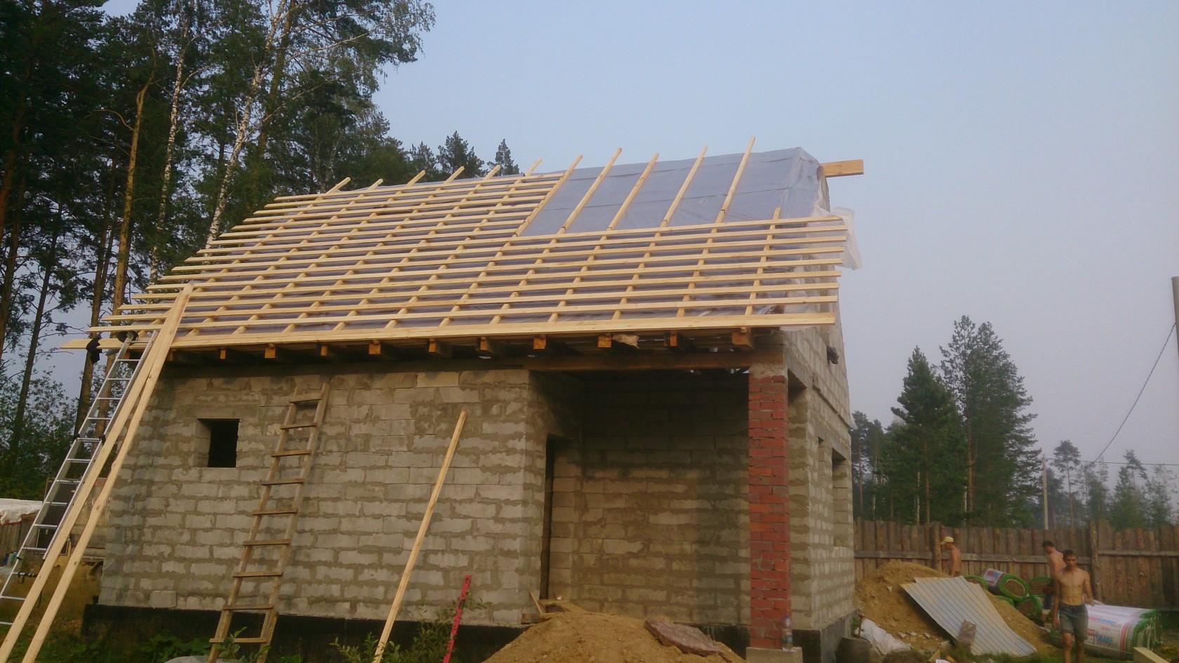 Фото строительства крыши своими руками 939